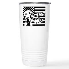 Justice For Geist American Flag Travel Mug