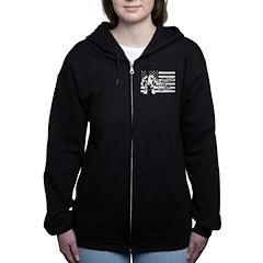 Justice For Geist American Flag Women's Zip Hoodie