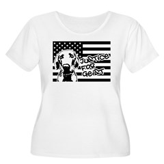 Justice For Geist American Flag Plus Size T-Shirt