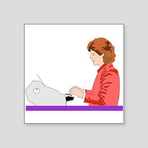 Typist Sticker
