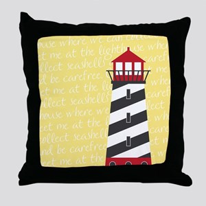 Lighthouse Yellow Throw Pillow