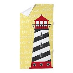 Lighthouse Yellow Beach Towel