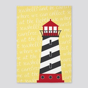 Lighthouse Yellow 5'x7'Area Rug