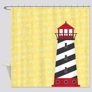 Lighthouse Yellow Shower Curtain