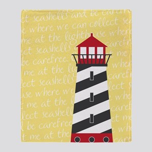 Lighthouse Yellow Throw Blanket