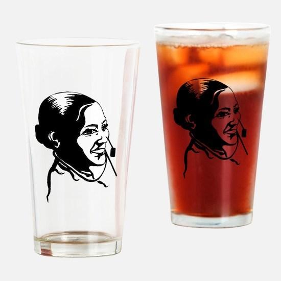Telephone Operator Drinking Glass