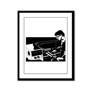 Technician Framed Panel Print