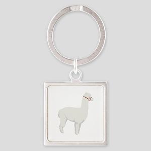 Alpaca Farm Animal Keychains