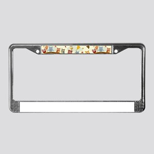 Autumn Owls License Plate Frame