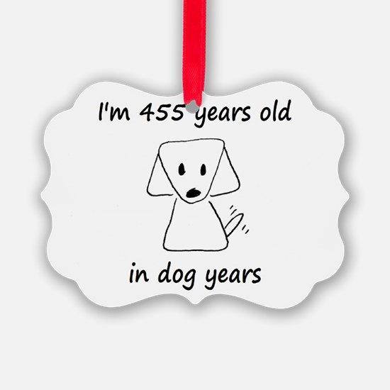 65 dog years 6 - 2 Ornament