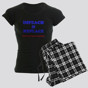 IMPEACH & REPLACE Women's Dark Pajamas