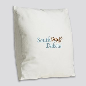 SOUTH DAKOTA Burlap Throw Pillow