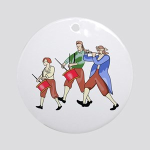 FIFE AND DRUM BAND Ornament (Round)