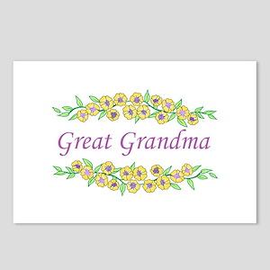 GREAT GRANDMA Postcards (Package of 8)