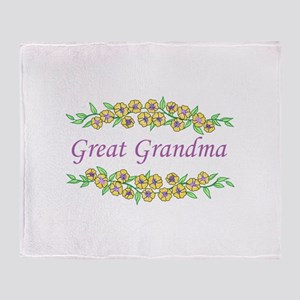GREAT GRANDMA Throw Blanket