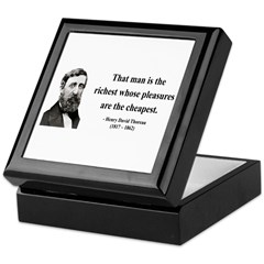 Henry David Thoreau 16 Keepsake Box