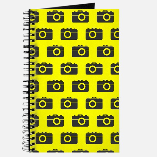 Yellow and Gray Camera Illustration Patter Journal