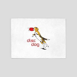 DISC DOG 5'x7'Area Rug