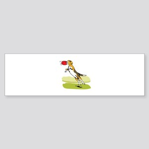BEAGLE CATCHING DISC Bumper Sticker