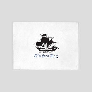OLD SEA DOG 5'x7'Area Rug