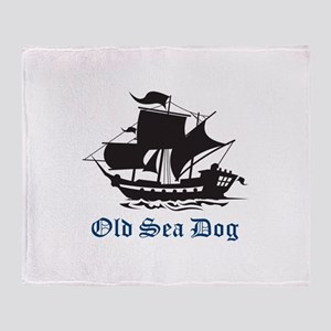 OLD SEA DOG Throw Blanket