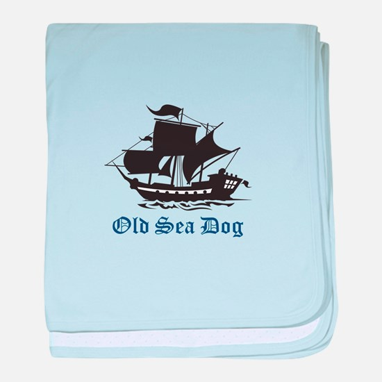 OLD SEA DOG baby blanket