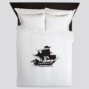 PIRATE SHIP Queen Duvet