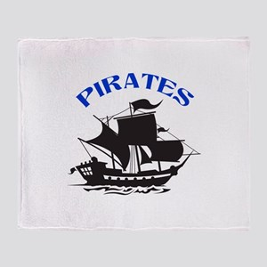 PIRATES Throw Blanket