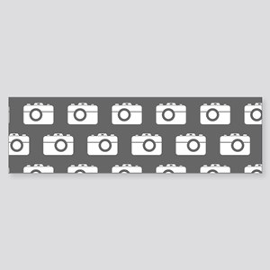 Gray and White Camera Illustratio Sticker (Bumper)