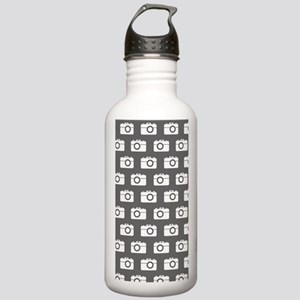 Gray and White Camera Stainless Water Bottle 1.0L