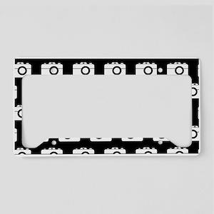 Black and White Camera Illust License Plate Holder