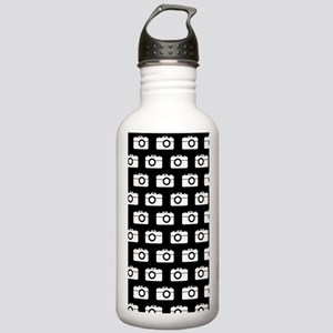 Black and White Camera Stainless Water Bottle 1.0L