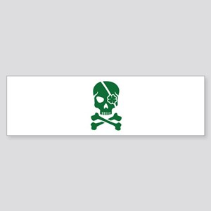Irish skull Sticker (Bumper)
