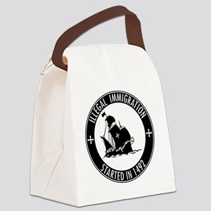 Illegal Immigration Started In 14 Canvas Lunch Bag
