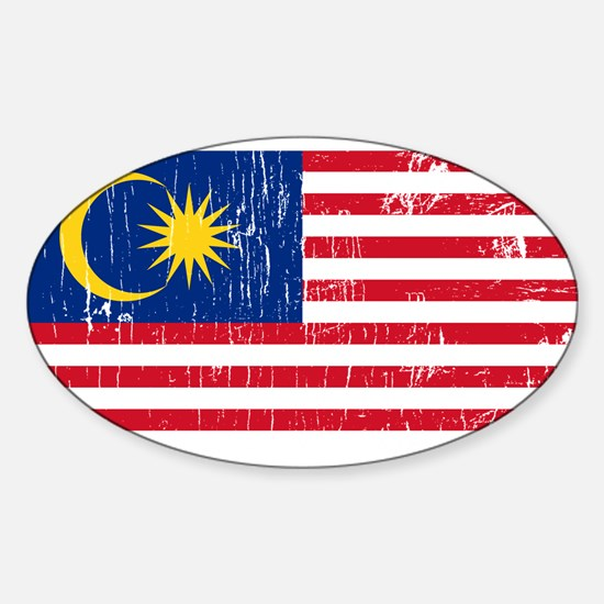 Vintage Malaysia Oval Decal