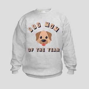 Emoji Dog Mom Kids Sweatshirt