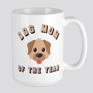 Emoji Dog Mom 15 oz Ceramic Large Mug