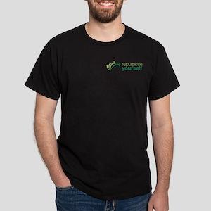 Front Green Logo Dark T-Shirt