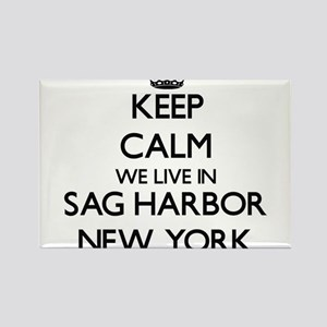 Keep calm we live in Sag Harbor New York Magnets