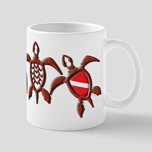 Dive Turtle Band Mug