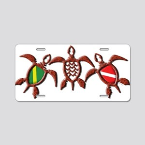 Dive Turtle Band Aluminum License Plate