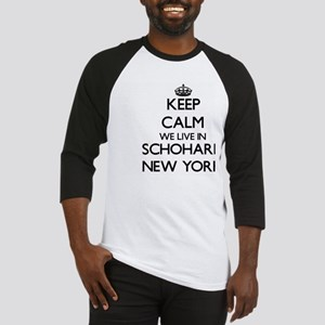 Keep calm we live in Schoharie New Baseball Jersey