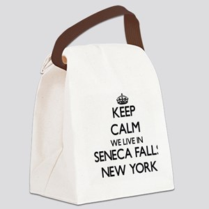 Keep calm we live in Seneca Falls Canvas Lunch Bag