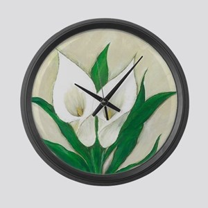 Calla Lily Large Wall Clock
