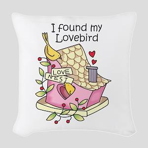 I Found My Lovebird Woven Throw Pillow