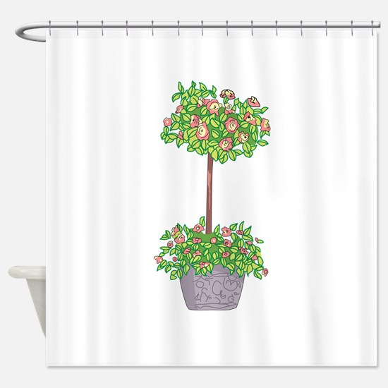 ROSE TOPIARY Shower Curtain