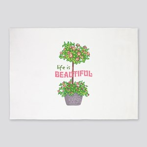Life Is Beautiful 5'x7'Area Rug