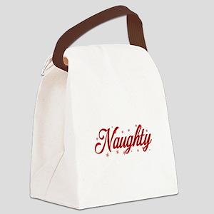 Naughty Christmas Couple Canvas Lunch Bag