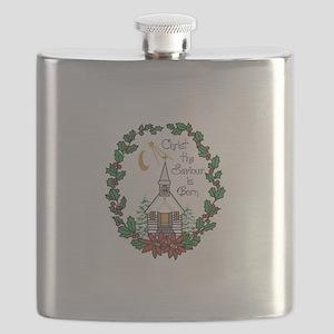 Christ The Saviour Is Born Flask