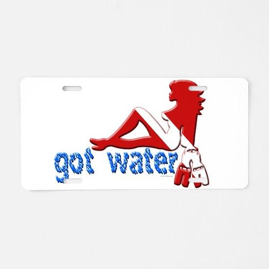 Got Water Aluminum License Plate